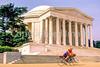 Bikers at Jefferson Memorial on Tidal Basin - 72 dpi-10