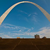 Arch from the steps leading down to the Mississippi River