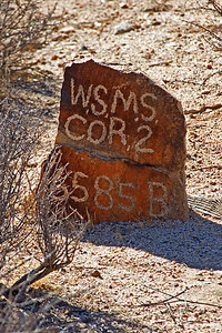 Corner claim marker at Wall Street Mill...
