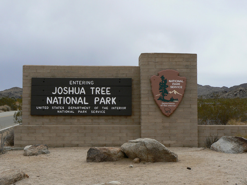 Joshua Tree National Park entrance