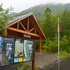 Trail information at Exit Glacier