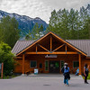 Kenai Fjords National Park visitor's center at Exit Glacier