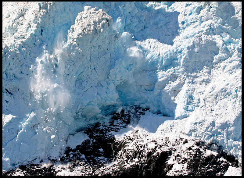 Calving Iceberg at Aialik Glacier