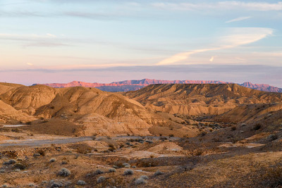 Sunset In the Nevada Badlands