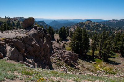 View from Bumpass Hell Parking Lot, Lassen Volcanic National Park, California in August 2012.