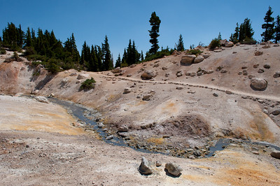 Bumpass Hell, Lassen National Park, California in August 2012.