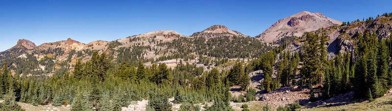 Mt. Lassen and Volcanic Friends Panorama