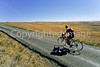 Cyclist at Little Bighorn Battlefield Nat  Monument in Montana - 5 - 72 ppi