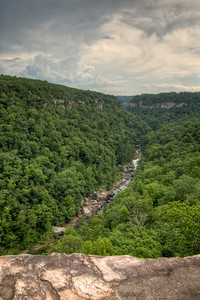 View into the gorge from the Wolf Creek Overlook at the Little River Canyon National Preserve in Mentone, AL on Sunday, July 19, 2015. Copyright 2015 Jason Barnette