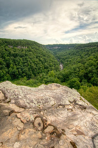 View of the gorge from the Canyon View Overlook at the Little River Canyon National Preserve in Mentone, AL on Sunday, July 19, 2015. Copyright 2015 Jason Barnette