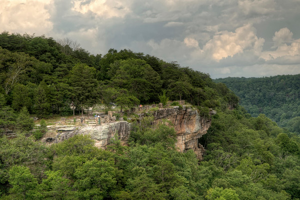 View of the Canyon View Overlook at the Little River Canyon National Preserve in Mentone, AL on Sunday, July 19, 2015. Copyright 2015 Jason Barnette