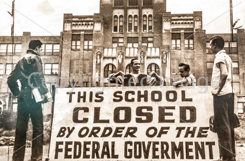 Displays inside visitor center of Little Rock Central High School National Historic Site, Arkansas - _1C30085 - 72 ppi