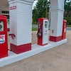 Old gas pumps at the education center