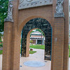 An arch in the commemorative garden