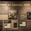 Little Rock's Central High School became the face of resistance to integration in the south.  Governor Faubus ordered the national guard to 'quell any violence' by blocking the entrance of the nine black students into Central High. Eventually the roles were switched and the 101st Airborne was called in to do just the opposite and provide protection to the nine students when they entered.