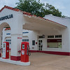 An old Mobil gas station across the street from the visitor's center. It used to house an education center until the new visitor's center was constructed in 2007.