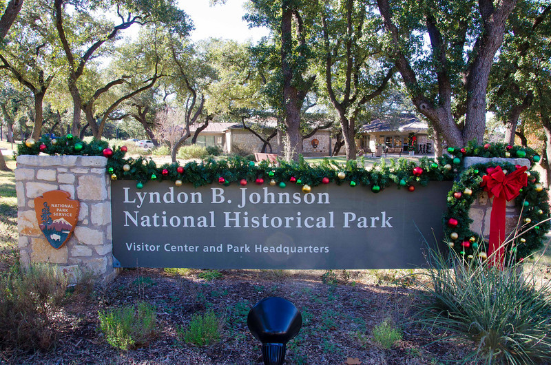 Lyndon B Johnson National Historical Park entrance