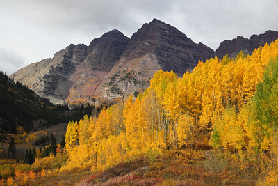 Maroon Bells and Brilliant Aspens