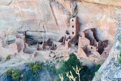 Ancient Indian Ruins at Square Tower House in Navajo Canyon