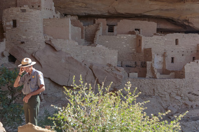 US Park Ranger at Cliff Palace