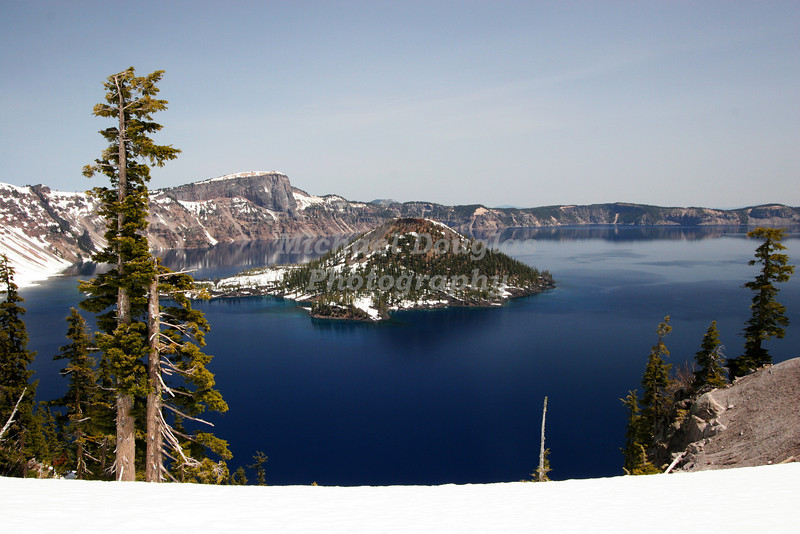 Wizard Island in Crater Lake National Park, Oregon