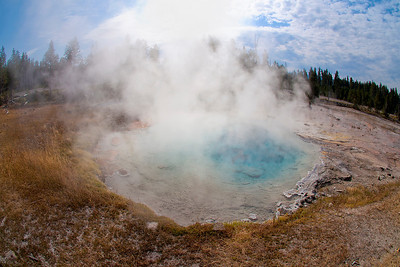 Lower Geyser Basin in Yellowstone National Park