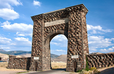 Roosevelt Arch at Yellowstone National Park