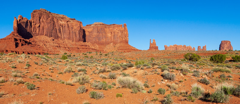 Long Red Butte at Monument Valley Navajo Tribal Park