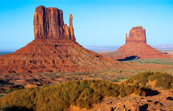 The Mittens at Monument Valley Navajo Tribal Park