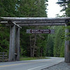 Mount Rainier National Park entrance
