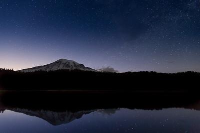 Mount Rainier Under the Stars