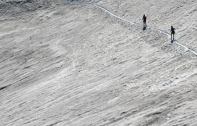 Crossing a snowfield