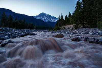 Nisqually River On Mount Rainier