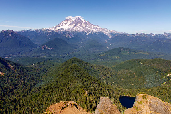 Mt. Rainier and Cora Lake in Foreground