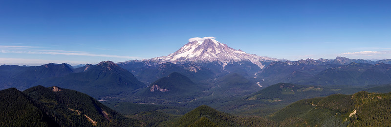 Panoramic View of Mt. Rainier From High Rock Lookout Point