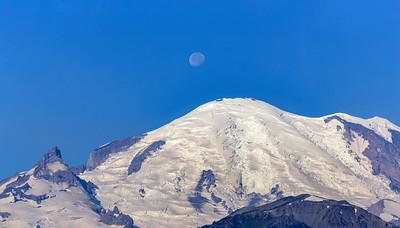 Moon Over Rainier