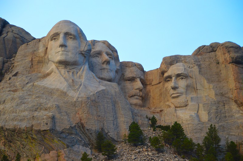 Sunset on Mount Rushmore