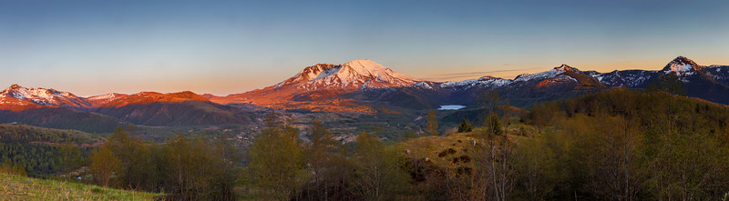 Mt. St. Helens Panorama From Castle Lake Viewpoint