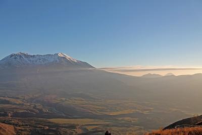 Volcano in haze