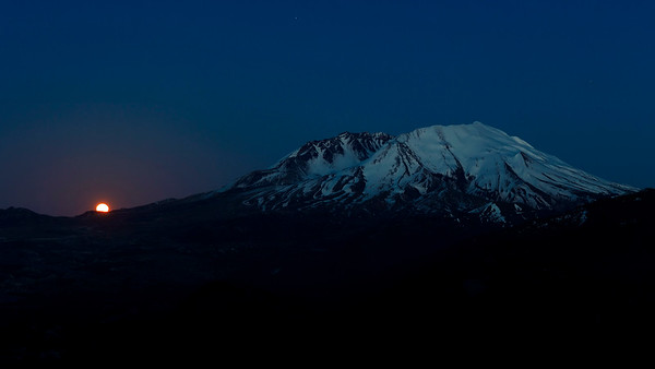 Moonrise Near Mt. St. Helens