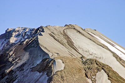 Dusted glaciers