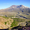 Mount St. Helens and the valley