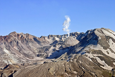 Steam venting at Mt. St. Helens