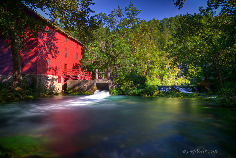 Alley Spring, Missouri: This photo consisted of 3 shots bracketed at 2 f/stop intervals and then merged together in Photomatrix (HDR Process)