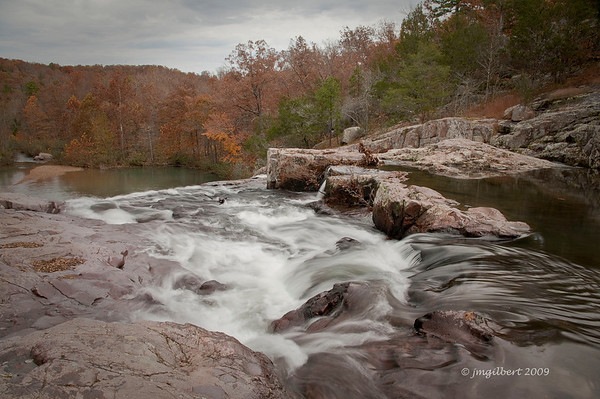Rocky Falls, northeast of Winona, Missouri or southeast of Eminence off of State Highway H, then east on NN.