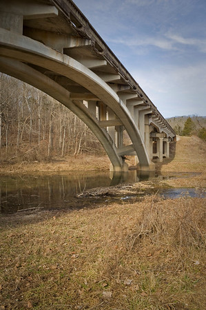 Bridge on state highway 19 north of Winona at Round Spring.