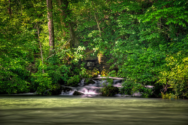 Big Spring, MO. May of 2010.  Three exposure bracket shot taken with a Nikon D700. 13/10 sec.; f/16; at 200mm.