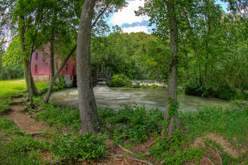Alley Spring Mill, MO. Pentax K-7, 3/10sec,f/19, ISO 100, 10mm.  Five exposure bracketed shot, processed in Photomatrix.