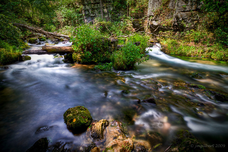Greer Spring, Missouri: This photo consisted of 3 shots bracketed at 2 f/stop intervals and then merged together in Photomatrix (HDR Process)