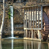 Falling Spring Mill, part of Ozark National Scenic Riverways.  Located south of Winona off of state highway 19.  Waterfall and the old mill.